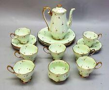 Fine ROYAL ALBERT Hand-Painted China Tea Set for 7  Rare Fleurettes Pattern