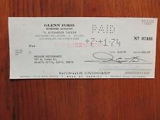 GLENN FORD(Died-06)(Cade's County/The Family Holvak) Signed 1974 Cancelled Check