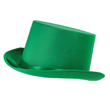 Ladies Green Top Hat Victorian Edwardian Dickensian Fancy Dress Costume Prop