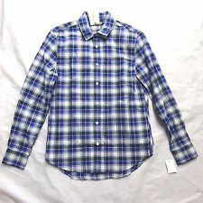 NEW LEVI'S MADE AND CRAFTED BLUE PLAID BUTTON UP DRESS SHIRT 1 SMALL