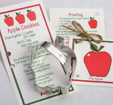 APPLE ~ SCHOOL BUS ~ tin cookie cutter DUO ~ MADE IN THE USA (NEW)