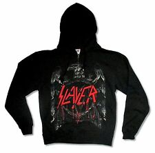SLAYER BRONZED EAGLE BLACK ZIP HOODIE SWEATSHIRT NEW OFFICIAL ADULT SMALL S