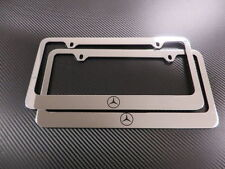 2 Brand New Mercedes-Benz LOGO chrome METAL license plate frame