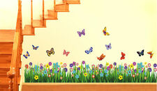 Wall Stickers Walking in the Garden Flower Border Design  701