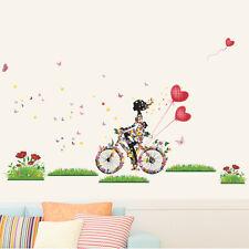 Fleur Fille Amovible Wall Art Sticker Vinyle Autocollant Chambre D'enfants