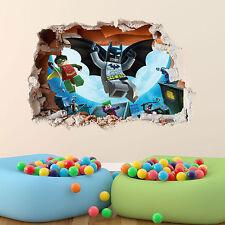 LEGO BATMAN WALL STICKER BOYS GIRLS BEDROOM 3DVINYL WALL ART DECAL