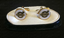 Men's Enamel on Metal Cufflinks - Volvo Logo