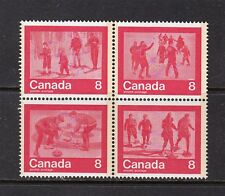 VC374 CANADA Sc#647a BLOCK OF 4 STAMPS MINT OG NEVER HINGED - WINTER SPORTS