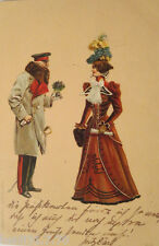 """Artistic card, Women, Fashion"" 1899, Edgar Schmidt, Dresden-Budapest (17757)"