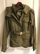 HOLDEN Women's Winter Snowboard Ski Jacket Olive Green Belted Small