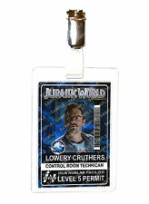 Jurassic World ID Badge Lowery Cruthers Ingen Dinosaur Cosplay Prop Halloween