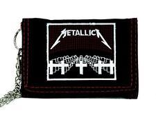 Metallica Master of Puppets Tri-fold Wallet w Chain Heavy Metal Rock Alternative