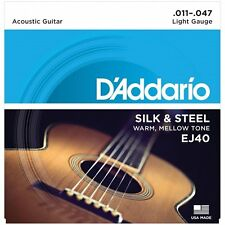 D'Addario EJ40 Silk & Steel Acoustic Guitar Strings Light - 11-47
