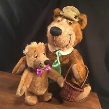 Vintage Yogi Bear & Boo Boo Plush Hanna Barbera Cooperstown Bears PRIORITY MAIL