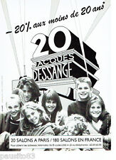 PUBLICITE ADVERTISING 086  1987  Les salons de coiffure Jacques Dessange