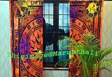 Celtic Curtains Hippie Tie Dye Mandala Tapestry Wall Hanging Bohemian Valances