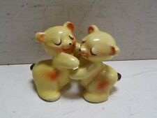 Vintage Van Tellingen Bear Hug Salt & Pepper Shakers Yellow