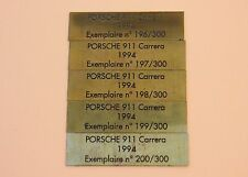 RQ Heco modeles 1 plaque métal autocollante gravé n° Porsche 911 carrera 1994