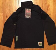 Military Crye Precision Combat Shirt Custom w/ DRIFIRE FROG - Black Medium/Reg