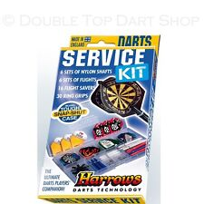 Harrows Darts Service Kit - Case - Stems / Shafts - Flights - Protectors - Rings