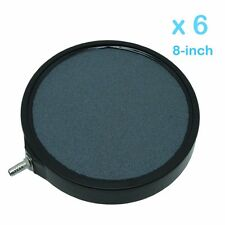 6pcs 8-inch  Round Air Stone Disc Diffuser Hydroponic Aquaponic Growing System