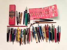 Huge Lot Of Vintage Pens, Pencils, Markers, Dip Pens, And Nibs Junk Drawer Lot
