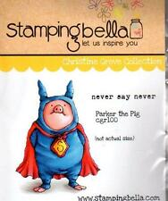New Stamping Bella Cling Rubber Stamp PARKER THE PIG SET free usa ship