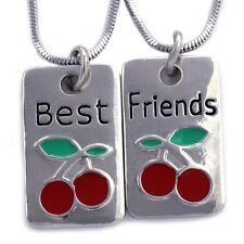Best Friend Forever BFF Red Cherry Friendship Pendant Necklace Fashion Jewelry