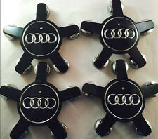 4pcs AUDI WHEEL CENTER HUB CAP SET A4 A5 A6 A7 A8 Q5 R8 S4 S5 4F0601165N BLACK