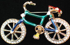 SUMMER FUN TRAIL RIDING PEDAL CYCLE BICYCLE BIKE TIRE PIN BROOCH JEWELRY MOVES