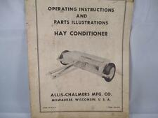 Allis Chalmers Operating Instructions Hay Conditioner Form TM-244A