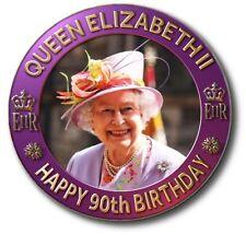 """90th BIRTHDAY OF HM QUEEN ELIZABETH II~ COMMEMORATIVE SOUVENIR ~1""""/25 mm BADGE"""