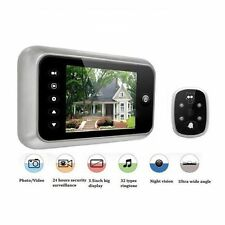 "3.5"" LCD Digital Peephole Viewer 120 Degrees Doorbell Door Eye IR Camera Video"