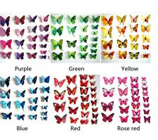 72pcs Removable 3-dimensional 3D butterfly wall stickers w/ fridge magnet -