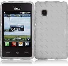 For TracFone LG 840G High Gloss TPU CANDY Flexi Gel Skin Case Cover Clear Plaid