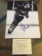 Larry Robinson SIGNED Montreal Canadiens Canada 11X14 8x10 PHOTO puck