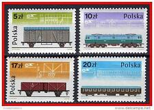 POLAND 1985 TRAINS / RAILROAD CARS MNH (3ALL)