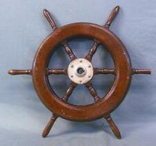 Vintage Ship's Wooden Steering Wheel
