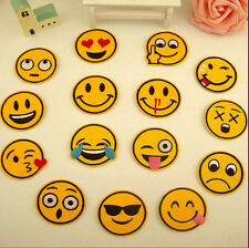 7pcs Funny Emoji Emotion Iron On Patch Sewing Embroidered Badge Applique Decor