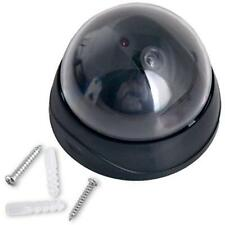 Dummy Fake Surveillance Security CCTV Dome Camera + Flashing Red LED Light