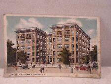 Releigh NC North Carolina, Capital Apartments, early postcard