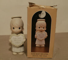 "Precious Moments ""God Sent His Love"" 15881 Dove Production Mark 1985 - MIB"