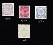 Queen Victoria 1883-84 High Values Set of 3 (forgeries)