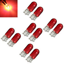 Red 10Pcs T10 501 W5W Interior Car Side Light Dashboard Dash Panel Gauge Bulb