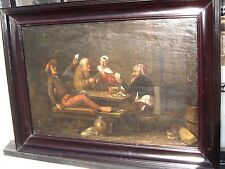 Attrib  Egbert van Heemskerck II 1600's ANTIQUE OLD MASTER OIL PAINTING ON OAK