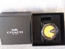 Coach Barrow PAC MAN Ionized Plated Watch -  Rubber Strap Band - NWT $195