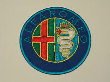MOTORSPORTS MOTOR RACING SEW ON / IRON ON PATCH:- ALFA-ROMEO (e) BLUE DISC