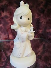 "Precious Moments-#272531 ""Sharing The Light of Love""- Girl Holding Candle - NIB"