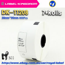 7 Rolls Brother Compatible DK-11208 Label, 38*90mm 400Pcs/Roll Fast Shipping