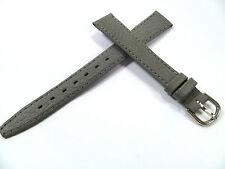 13 mm GRAU UHRENARMBAND DORNSCHLIEßE ARMBAND KALBSLEDER UHRENBAND LEDER